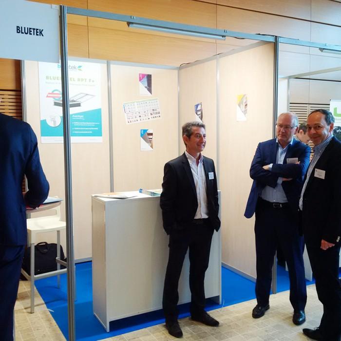 Emile Alberola sur le stand Bluetek - Adexsi - lors de l'Assemblée Générale de la CSFE - Lyon 2017