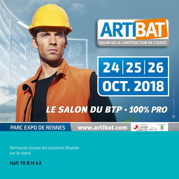 bâtiment construction Artibat 2018 Rennes parc des expositions Bluetek Adexsi