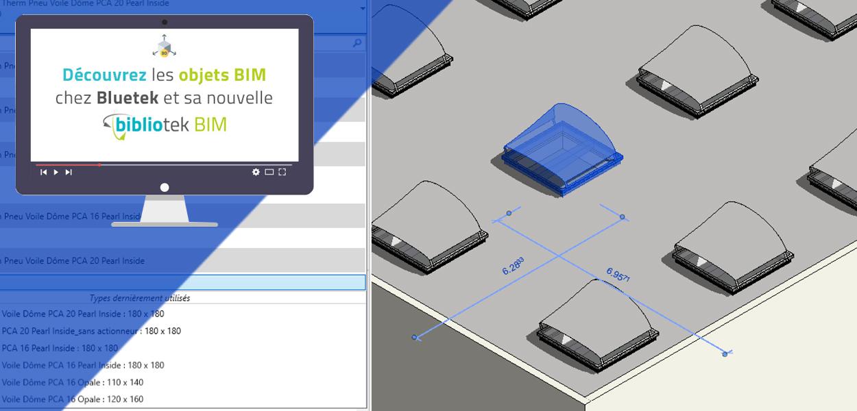 La bibliotek BIM Bluetek : découvrez nos objets BIM paramétriques