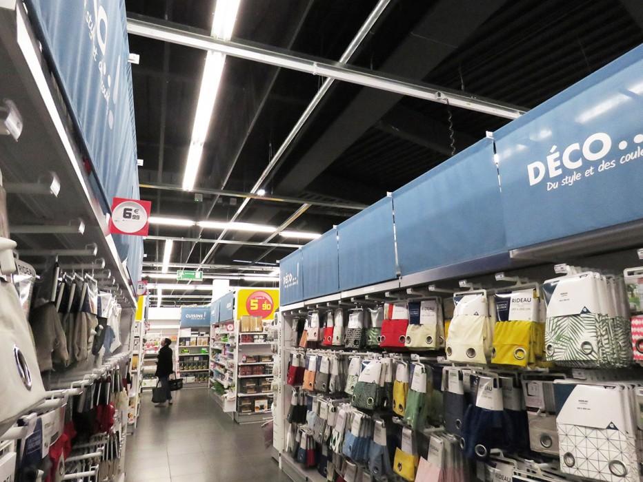 Cantonnement et lanterneaux de rénovation sur magasin GiFi