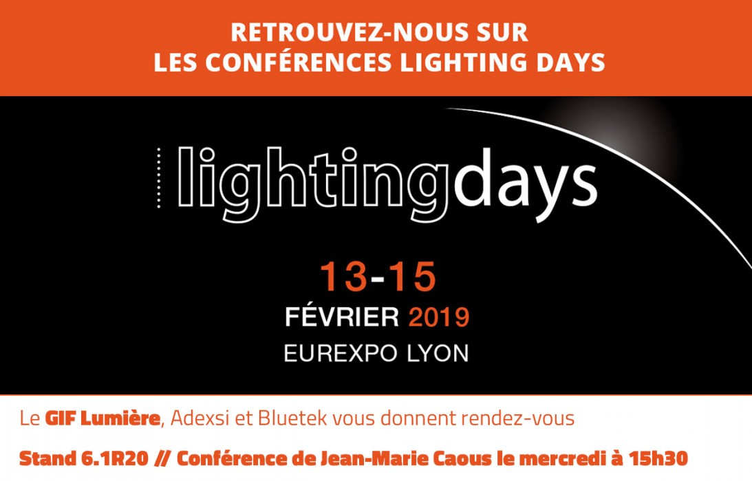 Lightingdays Lighting Days participation GIF Lumière Adexsi Bluetek et Jean-Marie Caous