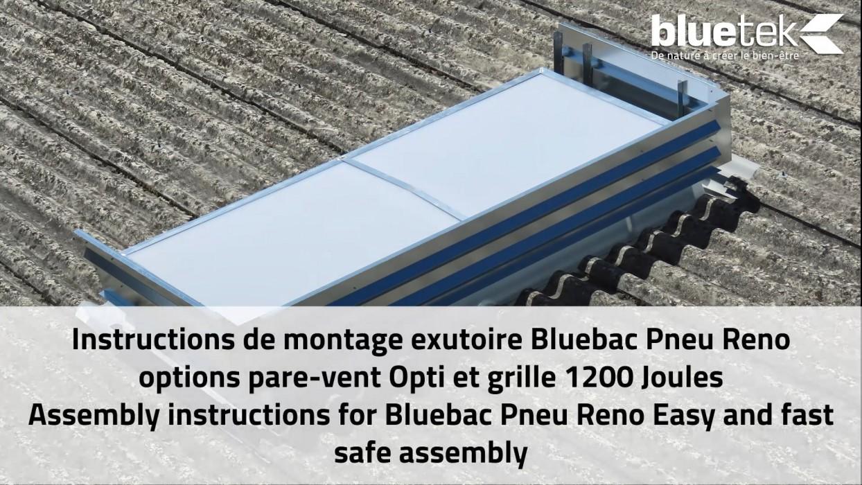 Bluetek fibro toiture nervurée amiante ciment rénovation lanterneaux exutoires DENFC conformité