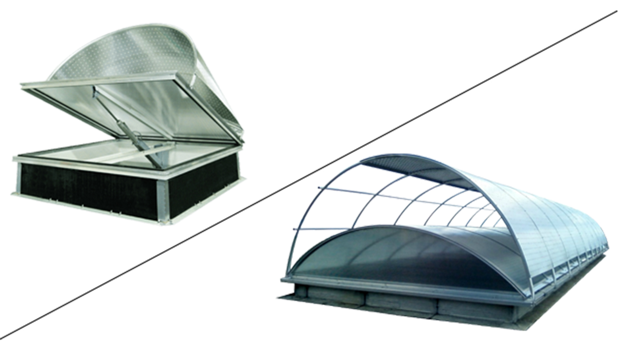 Bluetek propose un brise-soleil latéral ou longitudinal, le Voile-Dôme