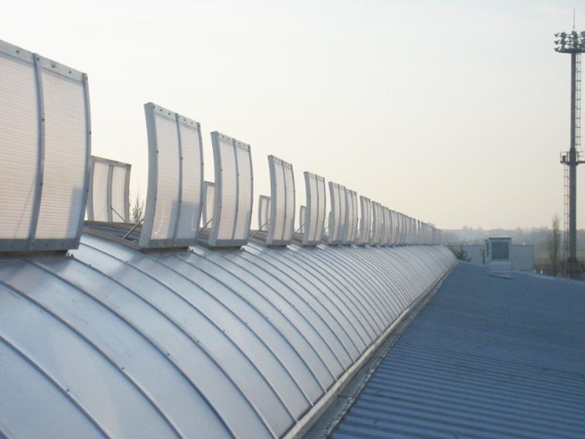 Des voûtes afin d'éclairer naturellement l'usine Butler de Prague