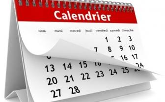 L'agenda des journées de mars 2018