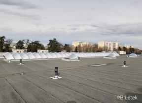 Rénovation Voile-Dôme en toiture concession automobile