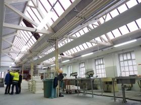 La rénovation de la verrière en polycarbonate des Cristalleries de St Louis