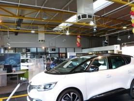 Bio-climatisation en toiture d'une concession automobile