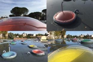 Les coupoles colorées du collège Anselme d'Avignon