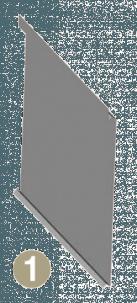 Parement métallique lames